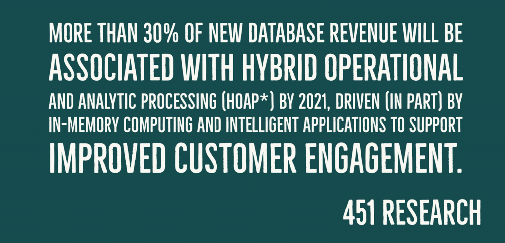 Hybrid Operational and Analytic Data Processing webinar with 451 Research
