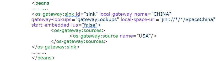 pu.xml WAN Gateway China side configuration snippet (Sink):