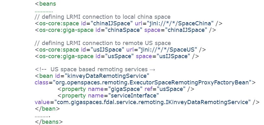 pu.xml web API china side configuration snippet: