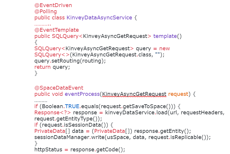 KinveyDataAsyncService java class implementation code snippet, taken from US space business logic: