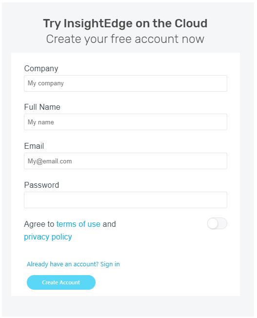 Create a GigaSpaces Cloud account